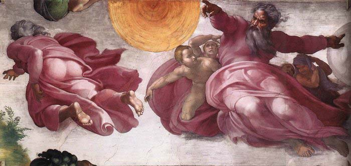 Michelangelo Buonarroti Creation of the Sun, Moon, and Plants