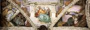 Frescoes above the entrance wall, Michelangelo Buonarroti