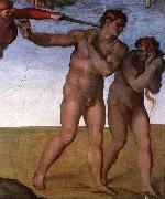 Expulsion from Garden of Eden, Michelangelo Buonarroti