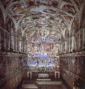 Sixtijnse chapel with the ceiling painting, Michelangelo Buonarroti