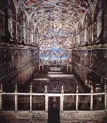 Interior of the Sistine Chapel, Michelangelo Buonarroti