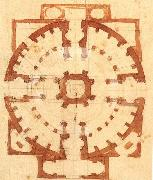 Plan for a Church, Michelangelo Buonarroti