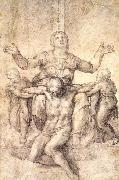 Study for the Colonna Piet, Michelangelo Buonarroti