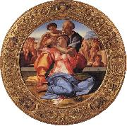 The Holy Family with the Young St.John the Baptist, Michelangelo Buonarroti