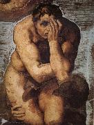 Damned soul descending into Hell, Michelangelo Buonarroti
