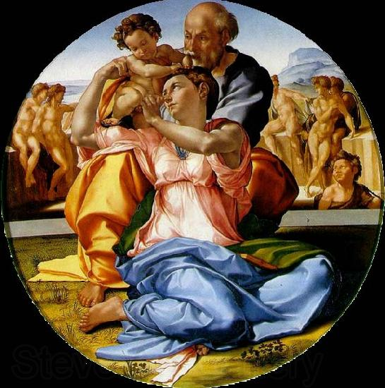 Michelangelo Buonarroti The Holy Family with the infant St. John the Baptist