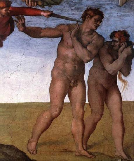Michelangelo Buonarroti Expulsion from Garden of Eden