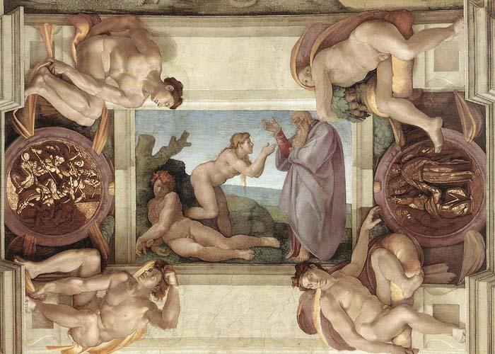 Michelangelo Buonarroti Creation of Eve