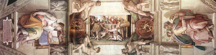 Michelangelo Buonarroti The third bay of the ceiling