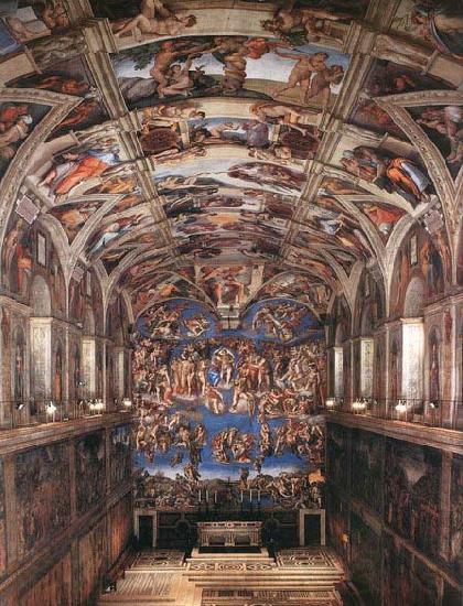 Michelangelo Buonarroti Interior of the Sistine Chapel