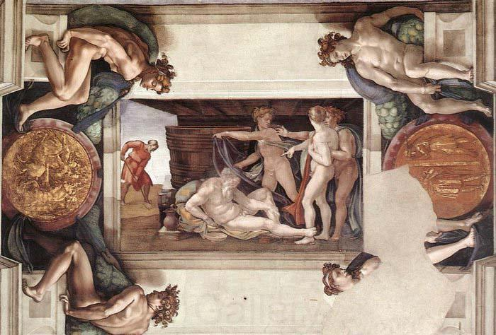 Michelangelo Buonarroti Drunkenness of Noah