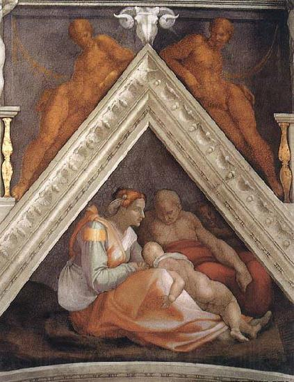 Michelangelo Buonarroti Ancestors of Christ: figures