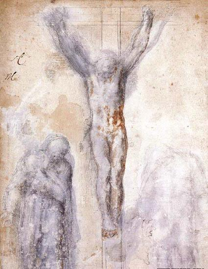 Michelangelo Buonarroti Christ Crucified between the Virgin and Nicodemus