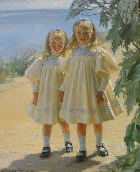 Peder Severin Kroyer The Benzon daughters