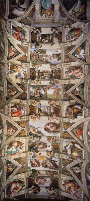 Michelangelo Buonarroti Ceiling of the Sistine Chapel